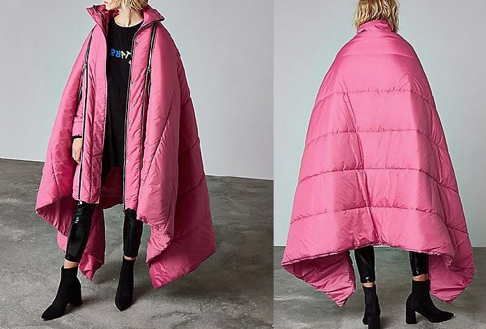 abrigo rosa River Island