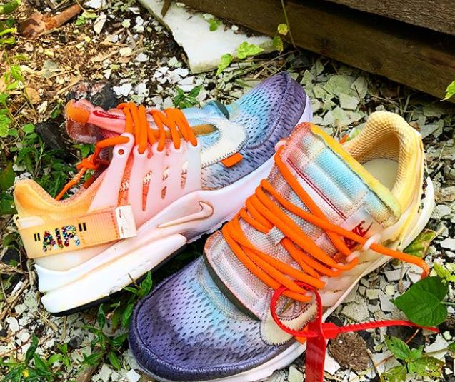Off White x Nike Air Presto con pedrería