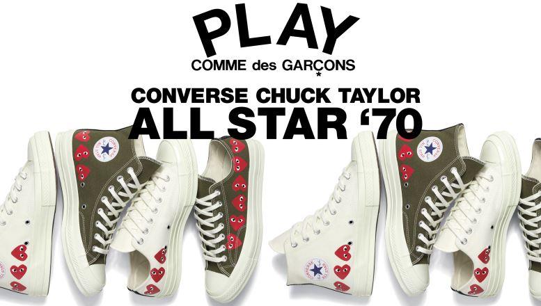 Disponibles las COMME des GARÇONS PLAY x Converse Chuck Taylor