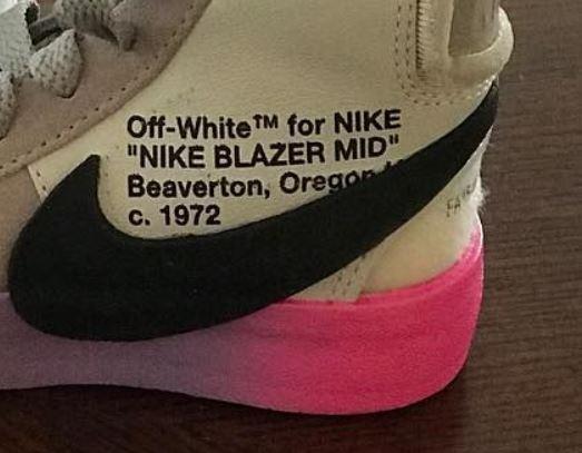 off white x nike blazers on feet