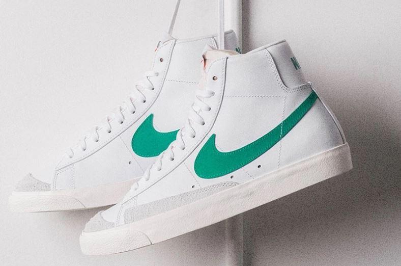 Deshabilitar lección Simular  Nike presenta las Blazer Mid 77 Vintage en verde y blanco El Zocco