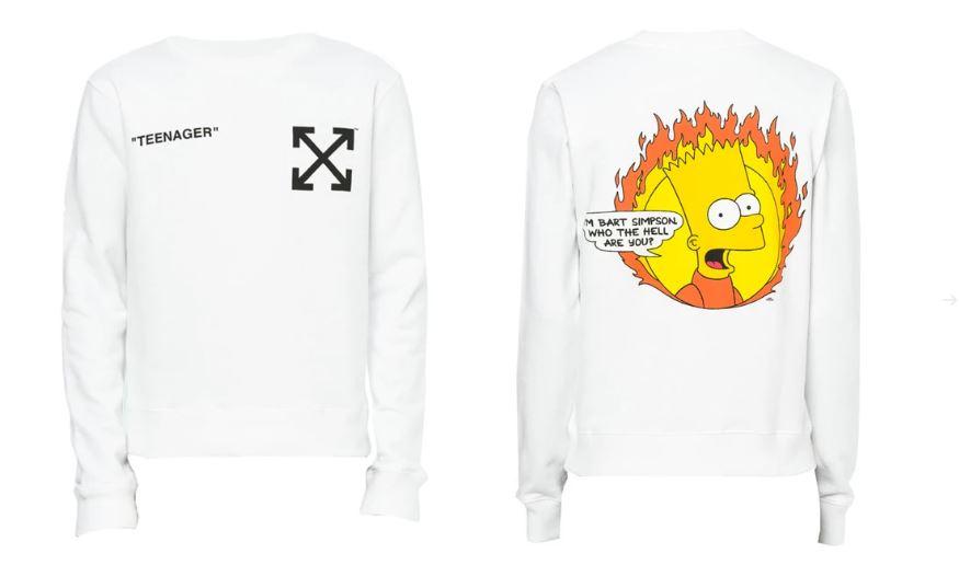 Off White x Bart Simpson