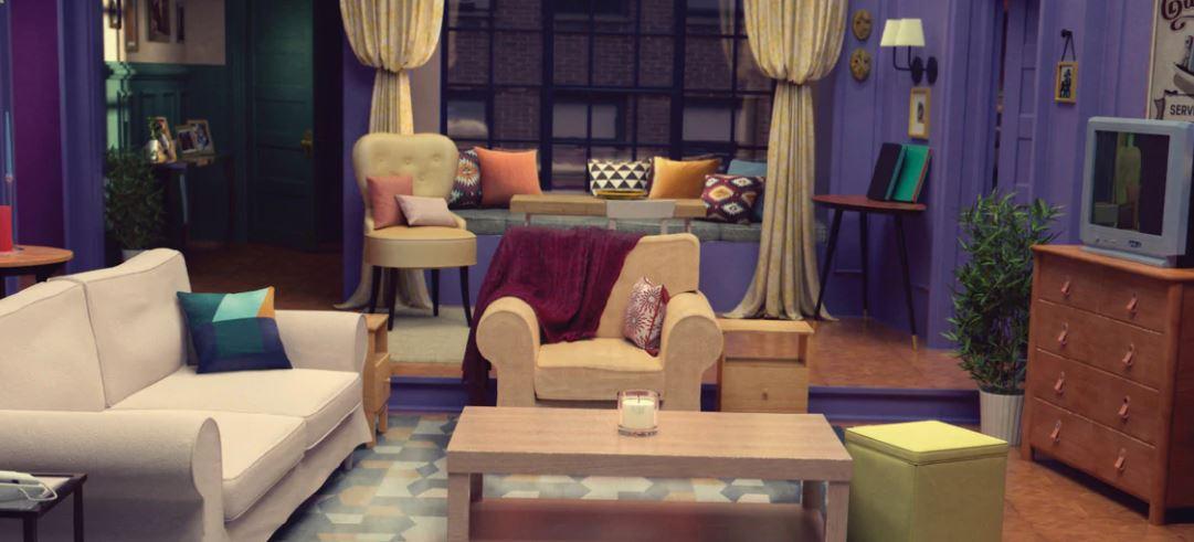 salón de Mónica de Friends