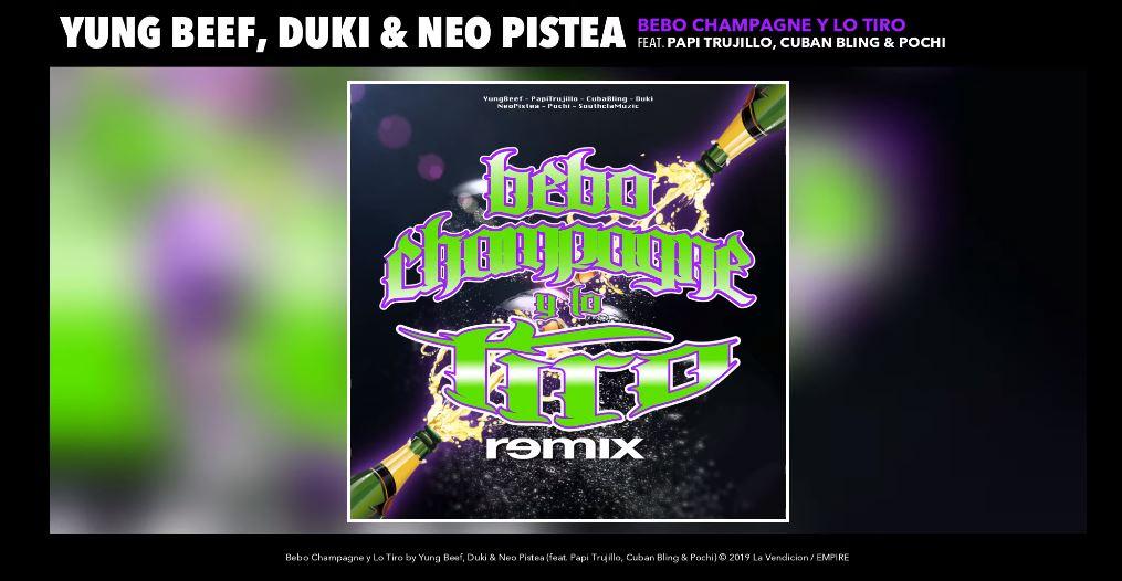 remix de Bebo champagne y lo tiro