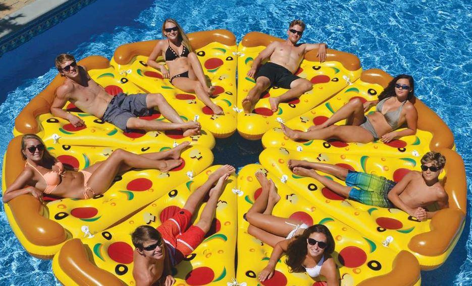 flotador de pizza para piscina