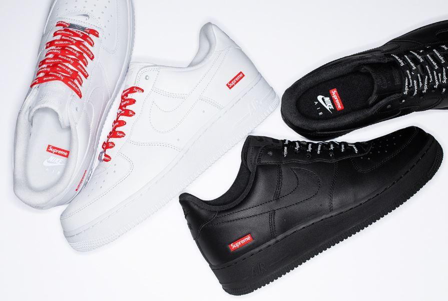 Las Supreme x Nike Air Force 1 Low se lanzarán durante esta