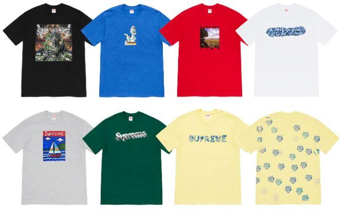 camisetas supreme Primavera 2020