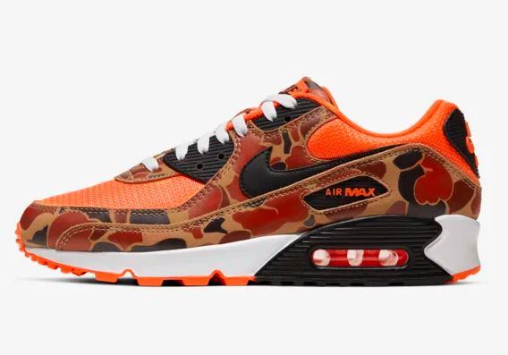 air max 90 orange duck camo