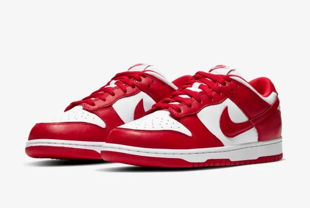 dunk low university red