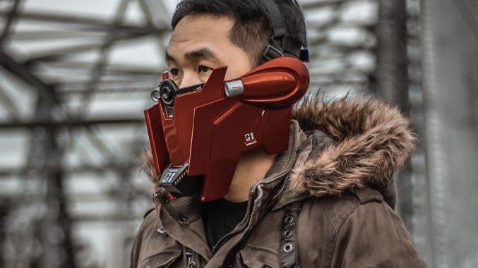 máscara de gundam