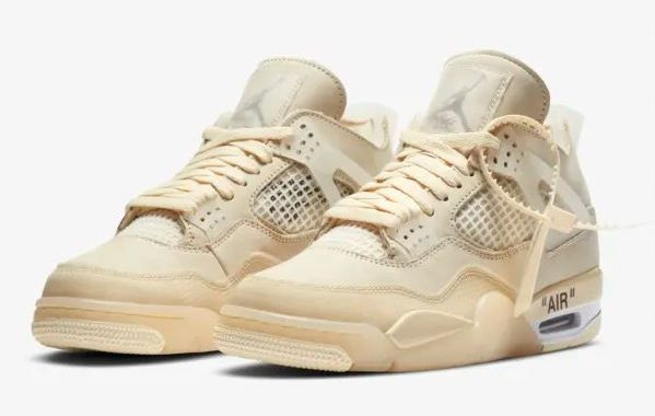 air jordan 4 x off white sail