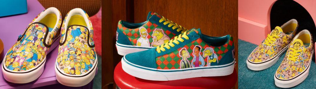 the simpsons x vans modelo y ropa