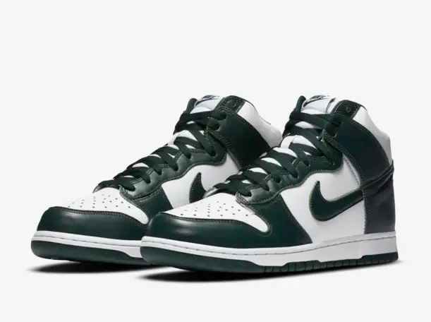 dunk high spartan green