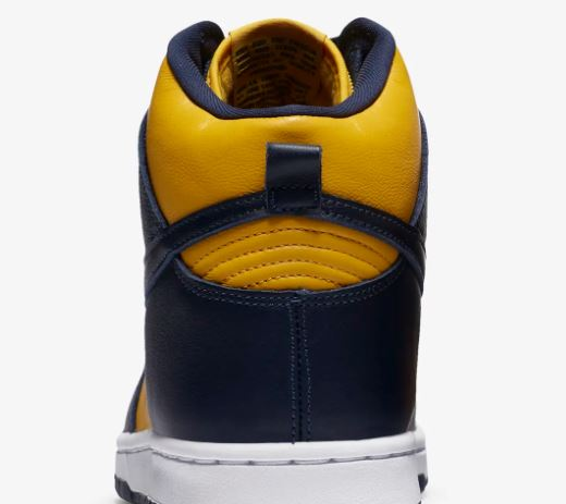 nike dunk high maize and blue