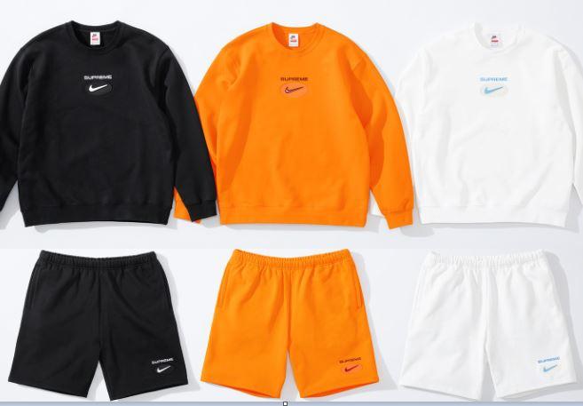 nike x supreme fw 2020 sudaderas y pantalones