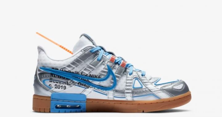 rubber dunk x off white university blue