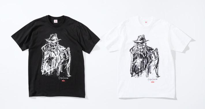 supreme x yohji yamamoto camisetas