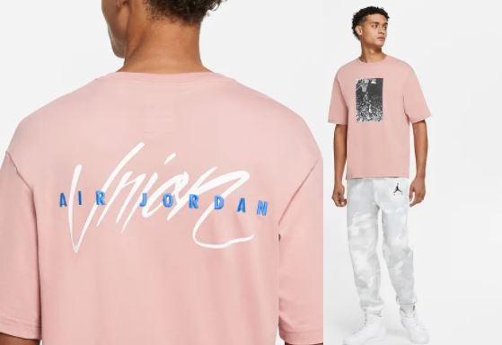 union la x air jordan camiseta
