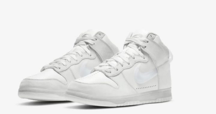 dunk high x slam jam clear white