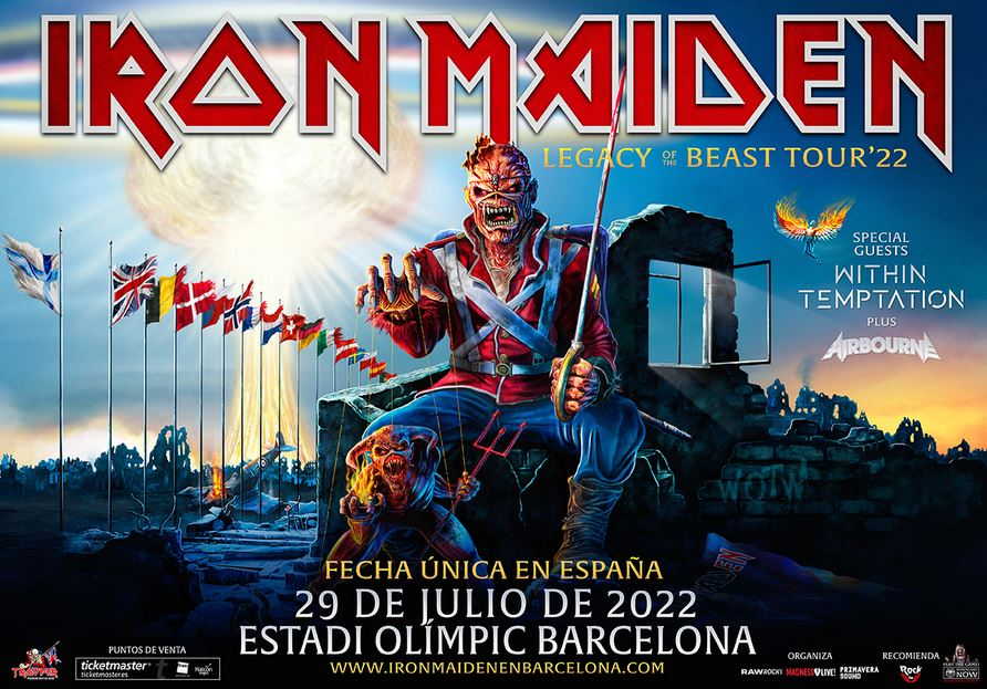 concierto de iron maiden en barcelona